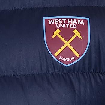 West Ham United FC - Plumífero acolchado oficial con capucha ...