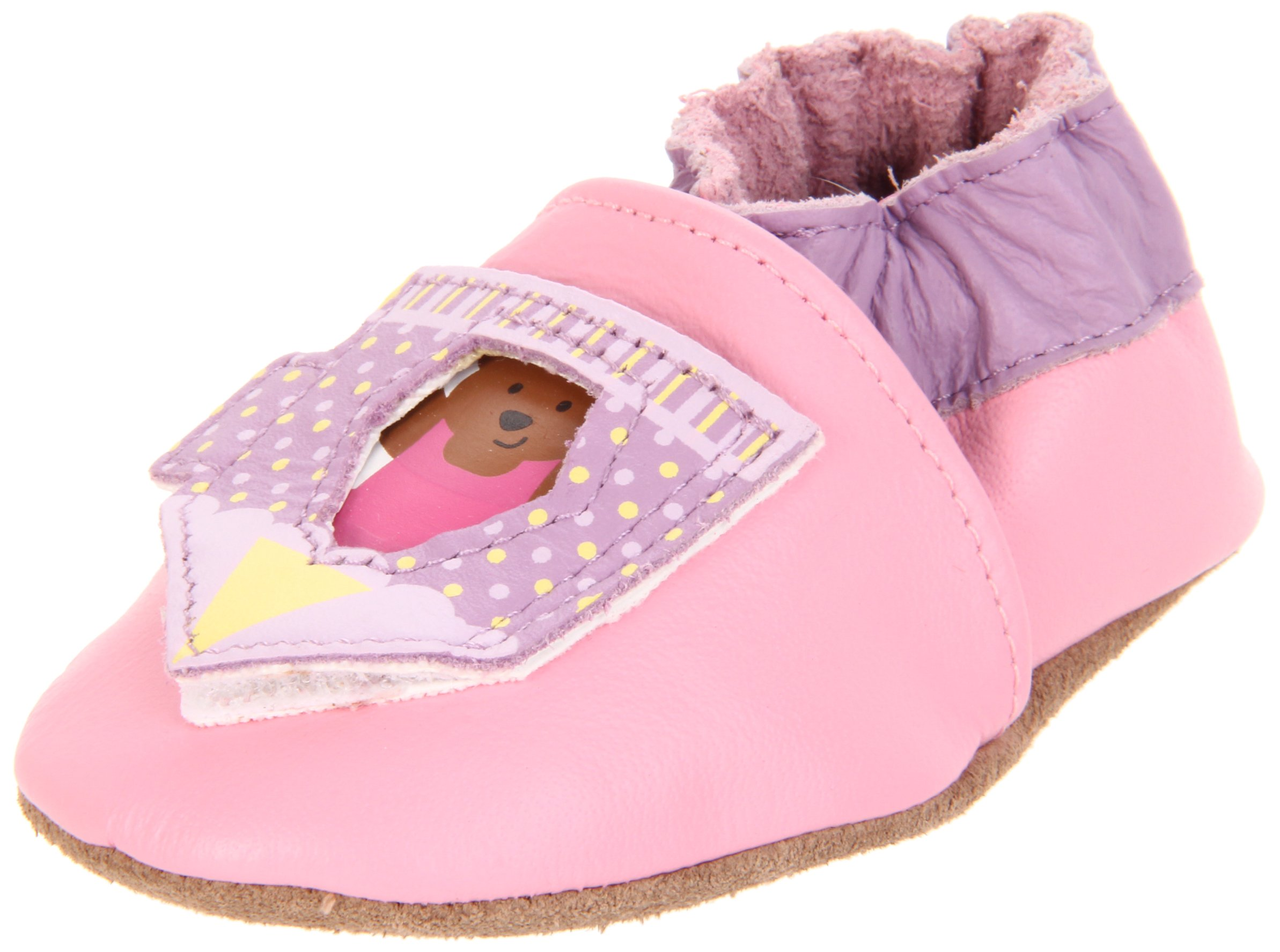 Robeez Soft Soles Peek-A-Roo Circus Act Pre-Walker (Infant/Toddler), Pink, 12-18 Months (4.5-6 M US Toddler)