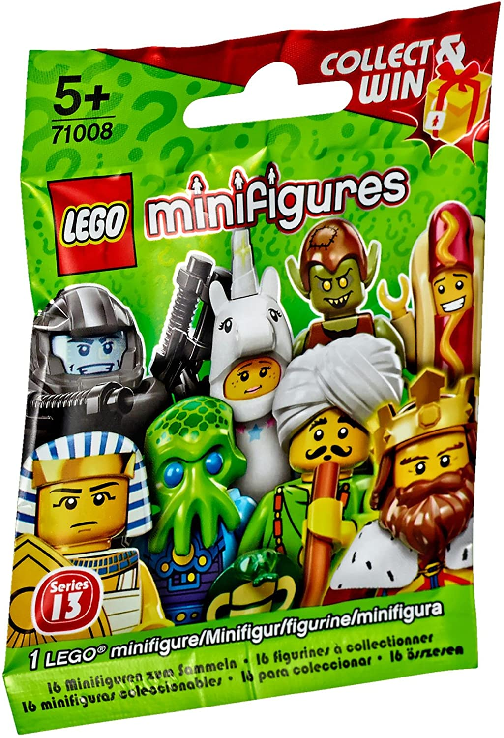 Complete Set of 16 New in Pkg LEGO Series 13 Minifigures 71008