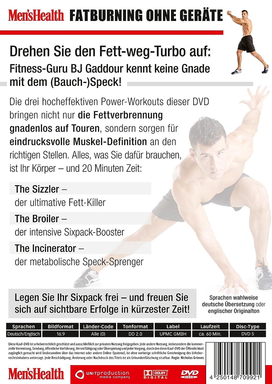 Men\'s Health - Fett weg ohne Geräte: Amazon.de: BJ Gaddour: DVD ...