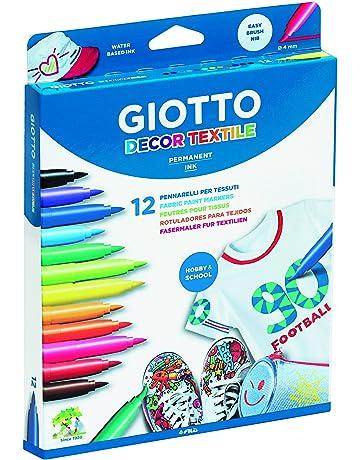 Giotto 494900 - Pack de 12 rotuladores decorativos para tejidos