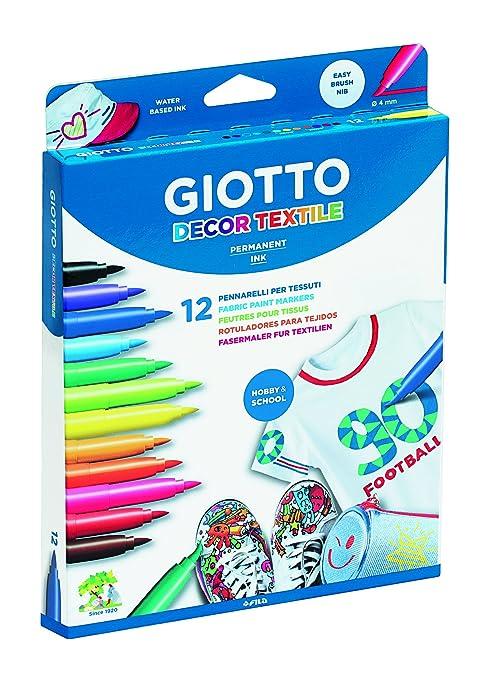 141 opinioni per Giotto- Decor Textile Pennarelli per Tessuti (8 Colori Standard + 4 Colori Fluo)