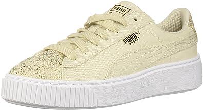Puma Chaussures à Plateforme en Toile pour Femmes: