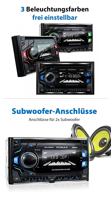 XOMAX XM-2CDB620 Autoradio mit CD-Player + Bluetooth: Amazon.de ...