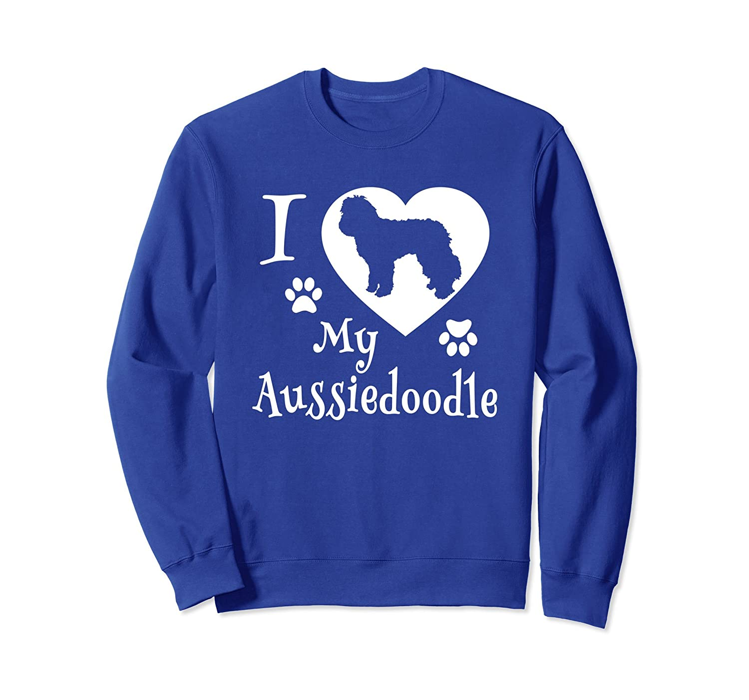 Aussiedoodle Sweatshirt I Love My Aussiedoodle Gifts-mt