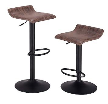 Amazon.com: PRAISUN Bar Stools, Set of 2, Swivel Counter ...