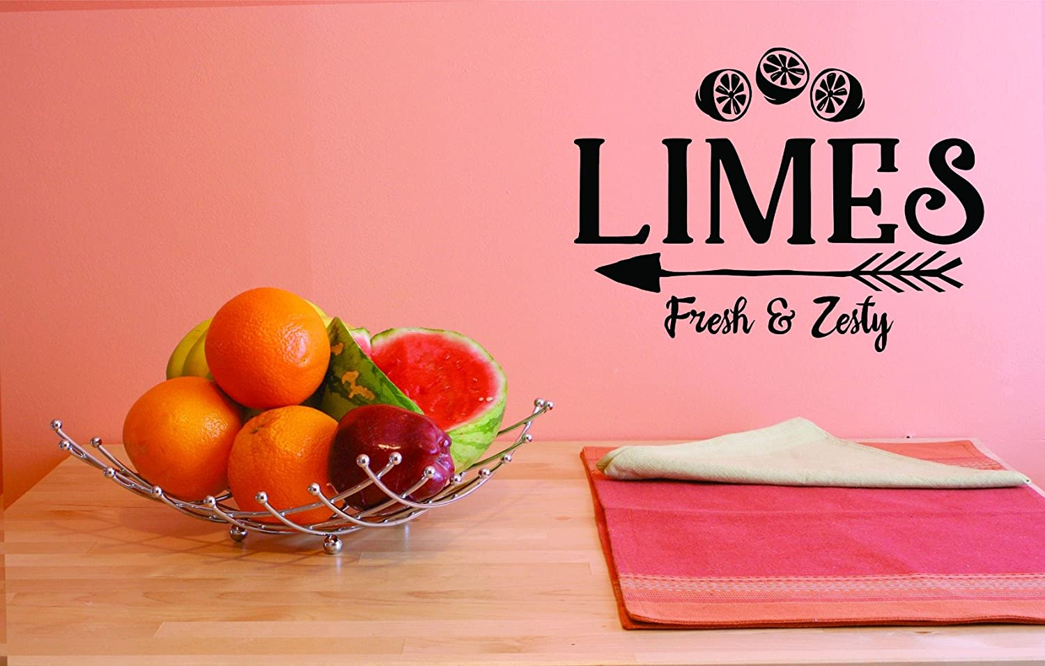 Design with Vinyl JER 1803 3 Hot New Decals Limes Fresh Zesty Wall Art Size 20 Inches x 30 Inches Color Black 20 x 30