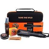 Tame's Beard Straightener Essentials Kit - Anti Scald Beard Comb Straightener- Heat Protection Spray - Beard Soap…