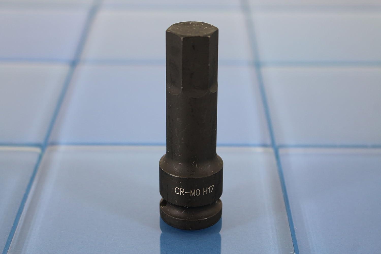 76mm Long Hex Hexagon Black Impact Bit Socket 1//2 inch TEMO H-17 3 inch 12.7mm Square Drive Auto Repair Tool GC