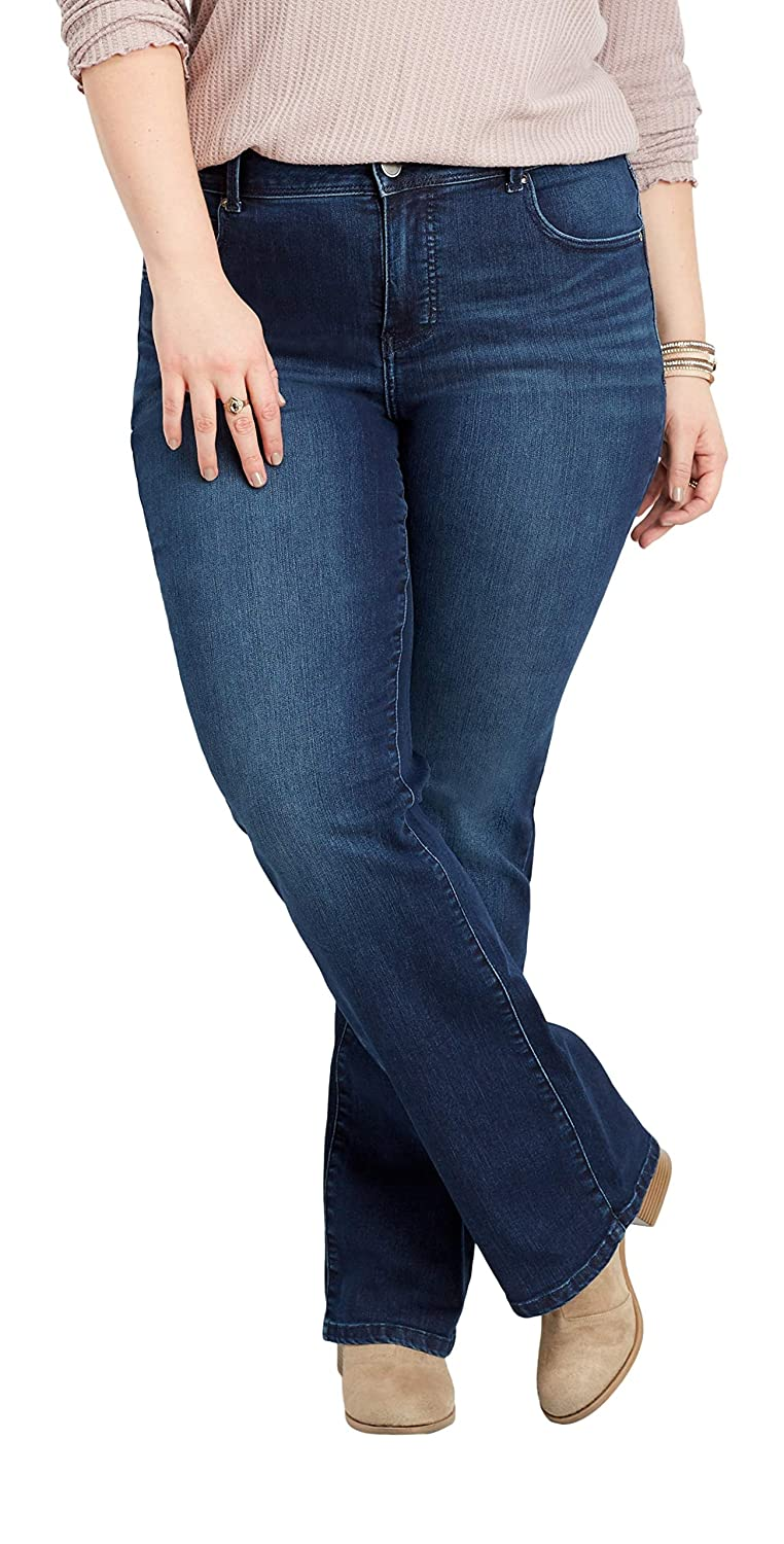 de3b4171173 maurices Boot   Flare Jeans - Women s Plus Size Everflex at Amazon Women s  Jeans store
