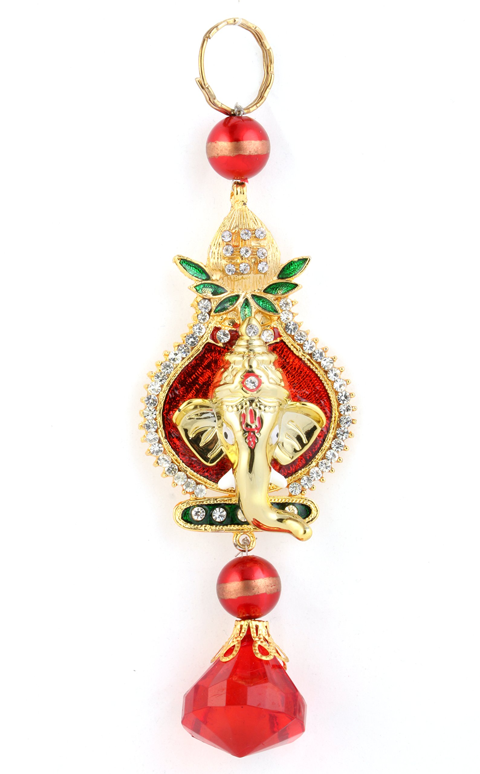 Ganesha Car Hanging on Kalash Ganesha hanging Wall Decor Sculpture Indian Decor for Wall Decoration for Diwali/Ganesh Chaturthi/Wedding return gift/Car mirror hanging (15cm4cm)