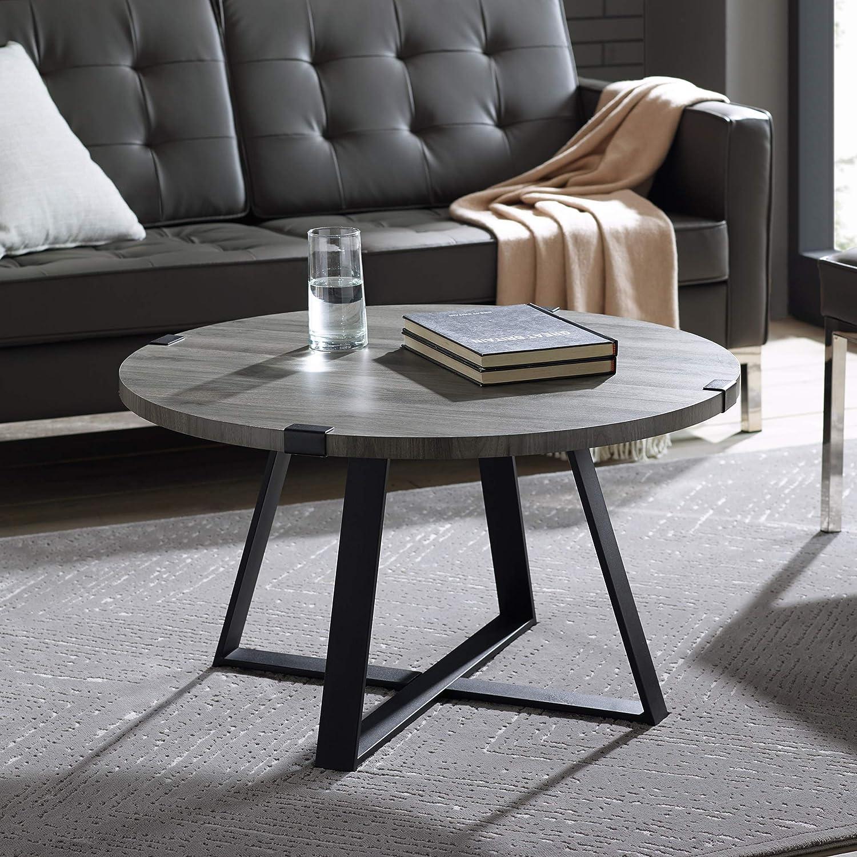 """WE Furniture AZF30MWCTSG Coffee Table, 30"""", Slate Grey"""