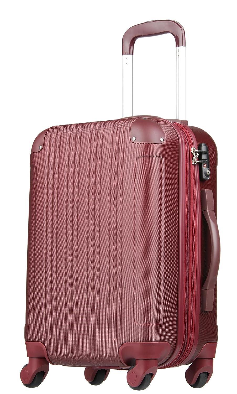【レジェンドウォーカー】LEGEND WALKER スーツケース 容量拡張 TSAロック 超軽量 マット加工 ファスナー開閉 5082 B0797Q1VFY Mサイズ(5~7泊/61(拡張時72)リットル)|ワインレッド ワインレッド Mサイズ(5~7泊/61(拡張時72)リットル)