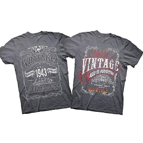 75th Birthday T Shirt Gift Set