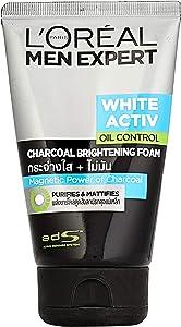 L'oreal Men Expert White Activ Anti Spots Oil Control Charcoal Foam 100ml