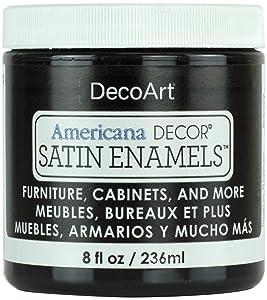 Americana Decor Satin Enamels 8oz-classic Black