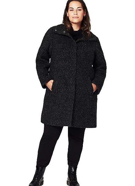 buy popular 0322a 88a40 Zizzi Damenmantel, Jacke, langer warmer Wollmantel, Große Größen 42-56