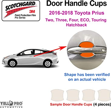 Clear Paint Door Handle Cup Protection Film for Toyota Prius  2016-2018