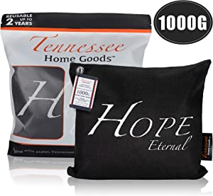 Tennessee Home Goods - Bamboo Charcoal Air Purifying Bags - Organic, Activated Odor Absorber, Safe for Kids - Decorative, Stylish Design - Home, Gym, Office Freshener Purifier - Hope Eternal - 1000g