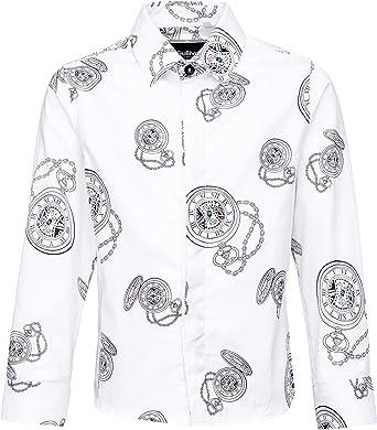 GULLIVER - Camisa blanca de manga larga para niño, diseño de 3 a 5 años, 98 cm, 104 cm, 110 cm: Amazon.es: Ropa y accesorios