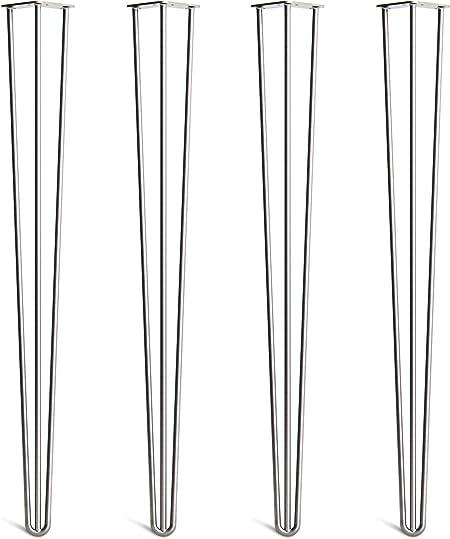 Guide Installation Vis Inclus Lot 4 Pieds En /Épingle /À Cheveux En Acier 10mm Haute Qualit/é Disponible Dans 10-86cm Et Une Gamme Compl/ète De Finitions Prot/ège-Pieds Style Milieu 20/ème Si/ècle