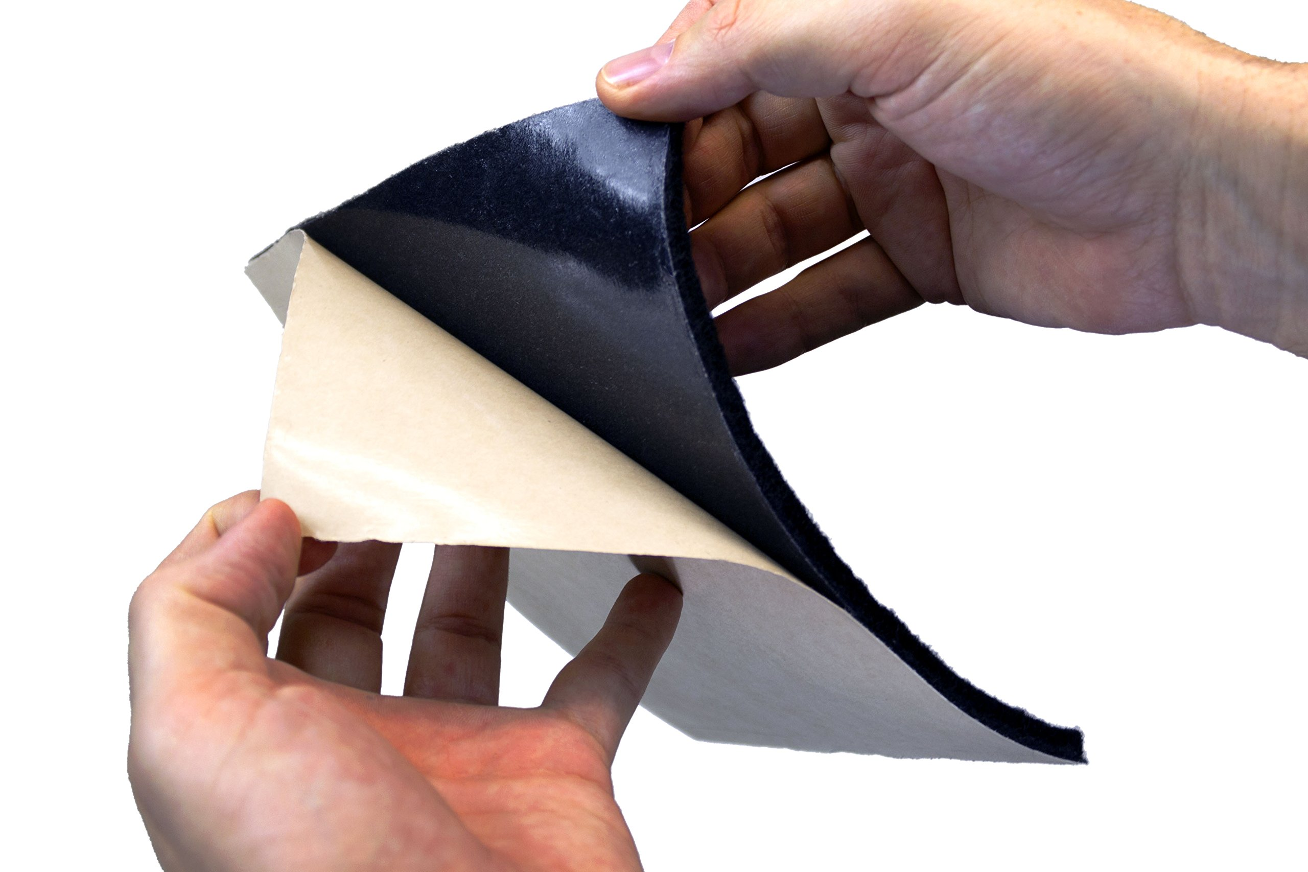 MuteX Ez Stick Soundproof Material (Black, 30 sqft, 5'x6')