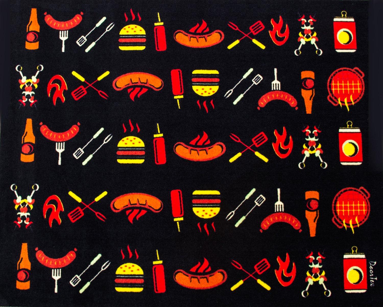 Doortex, BBQ Mat, Under Grill Mat, Fire Retardant and Flame Resistant Mat, Cook Design, 39'' x 60'' (FR4BQ3960C)