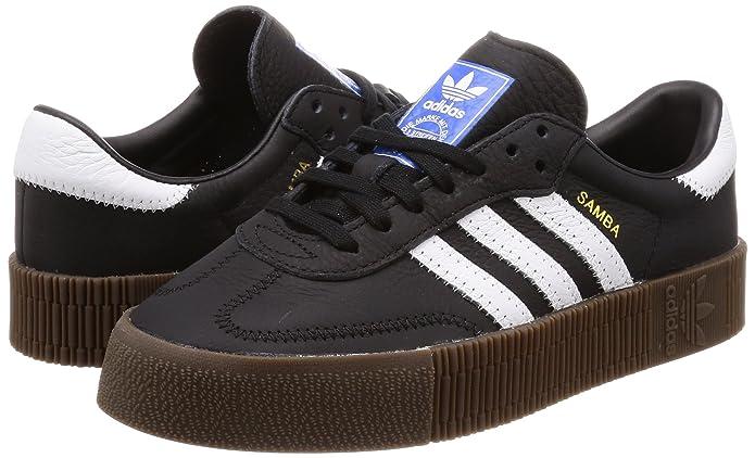 Amazon.com | adidas Originals Womens Sambarose Shoes Black/White/Gum 6 M US | Fashion Sneakers