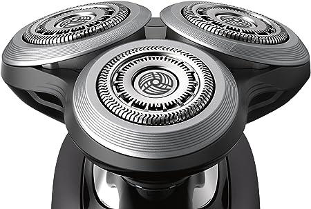 Philips Serie 9000 S9031/12 - Máquina de afeitar con cabezales de 8 direcciones, uso en seco/húmedo, 50 min de batería, incluye recortador de precisión y funda de viaje, negro