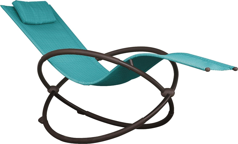 Vivere ORBL1-TT Orbital Lounger Outdoor Rocking Chair, True Turquoise : Garden & Outdoor