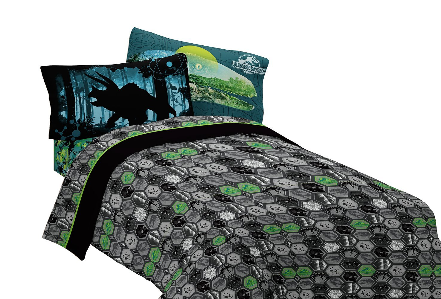Universal Jurassic World Biggest Growl Microfiber Sheet Set, Full