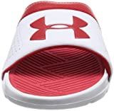 576d47c4be7a Galleon - Under Armour Men s Playmaker VI Slide Sandal White (106 ...
