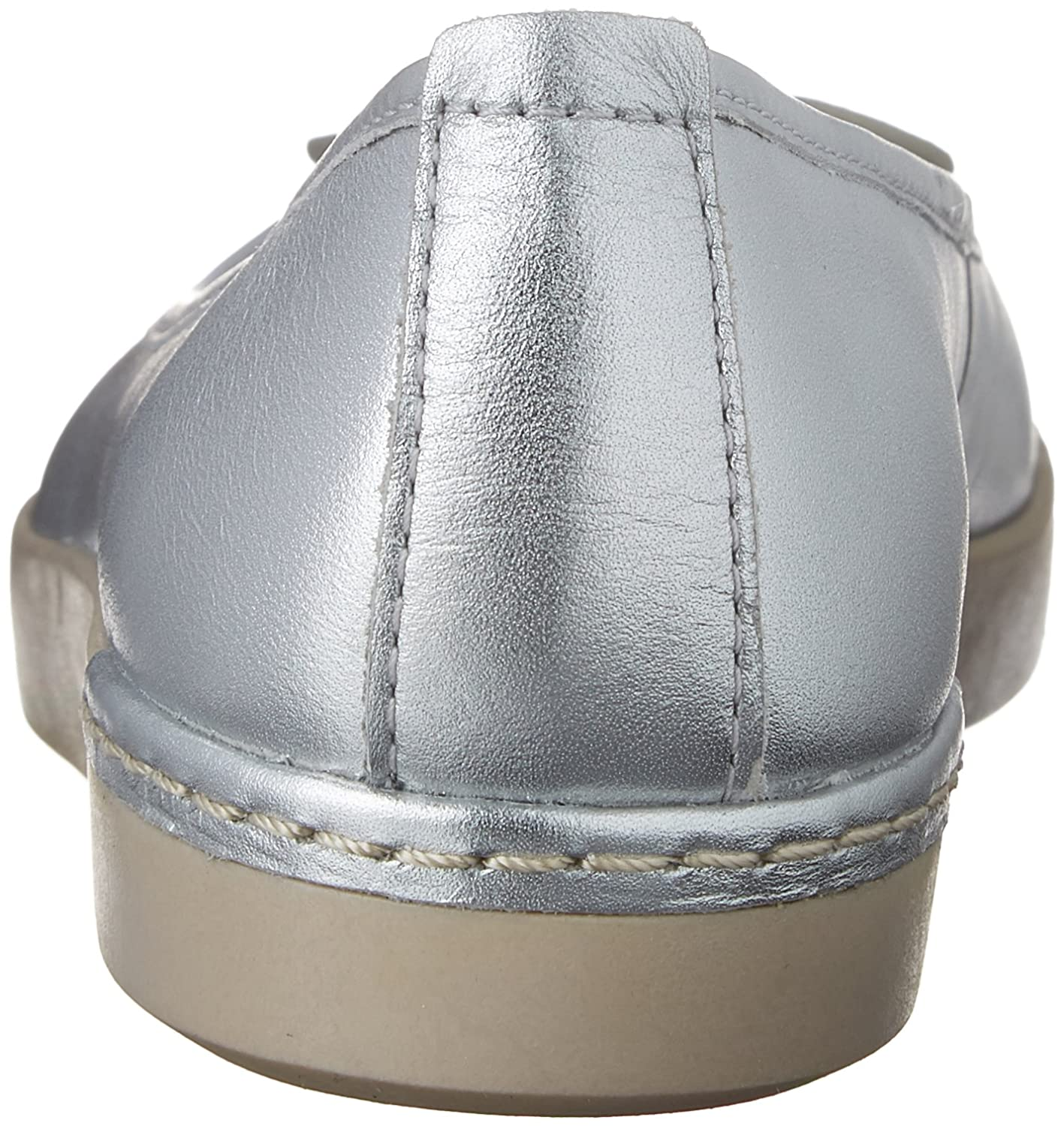 CLARKS Women's Cordella Alto Leather B011VBV40Q 7 B(M) US|Silver Leather Alto a56380