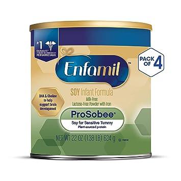 Enfamil ProSobee Soy Sensitive Baby Formula, Dairy-Free Lactose Free Plant  Protein Milk Powder, 22