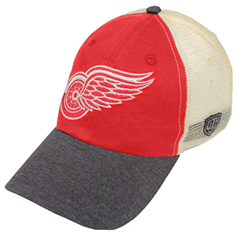 c137caa53fe00 Image Unavailable. Image not available for. Color  Detroit Red Wings Boone  Unstructured Mesh Snapback Adjustable Hat   Cap