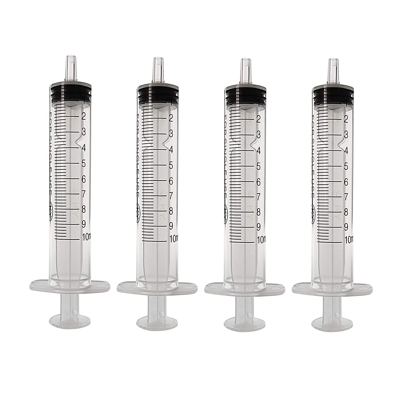 10ml-50pacco Siringa monouso senza ago E siringhe industriali non sterili (10ml-50pacco) JINGLAN