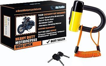 MOTORBIKE BRAKE DISC LOCK Motorcycle Alarm BIKE LOCK SECURITY ANTI-THIEF 2 KEYS