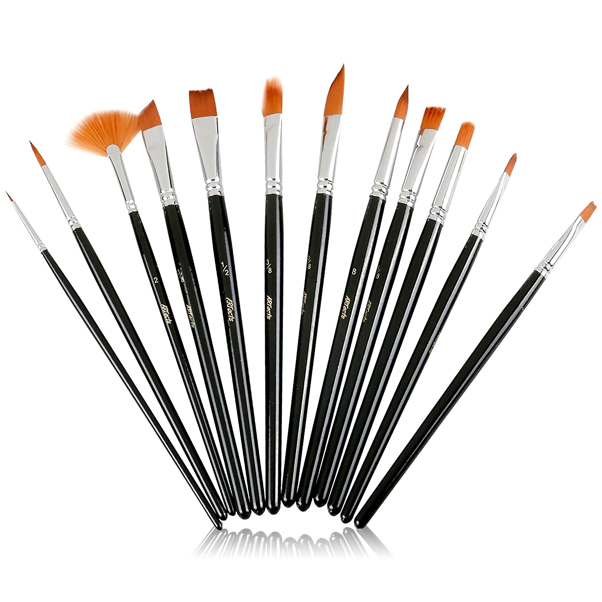 new product 61d31 f6be7 ARTacts -Professional Artist Paint Brush Set for Watercolor, Acrylics, Oil    Face Painting
