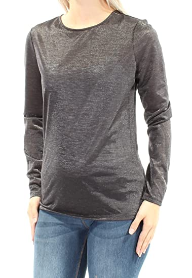 3b109dc0ad14 Guess Womens Black Long Sleeve Jewel Neck Top Size: S: Amazon.co.uk:  Clothing
