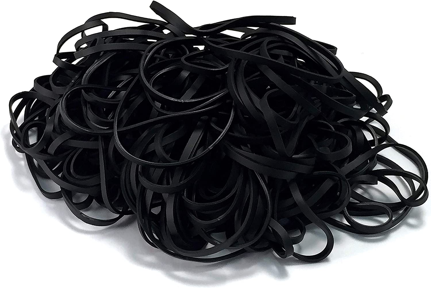200 Black Rubber Bands, by Better Office Products, Size 33, 200/Bag, Vibrant Black Rubber Bands