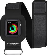 Twelve South actionsleeve para Apple Watch, Negro | Pulsera para 38mm Apple Watch, Brazalete Negro para Reloj Apple 42 mm, Negro