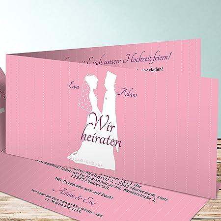 Hochzeitseinladung Selbst Gestalten Romantische Silhouette 15
