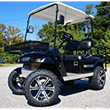 "EZGO TXT/Medalist 2001.5-2013 ELECTRIC Golf Cart Drop Axle Lift Kit & 14"" TERMINATOR Golf Cart Wheels and 23"" DOT All…"