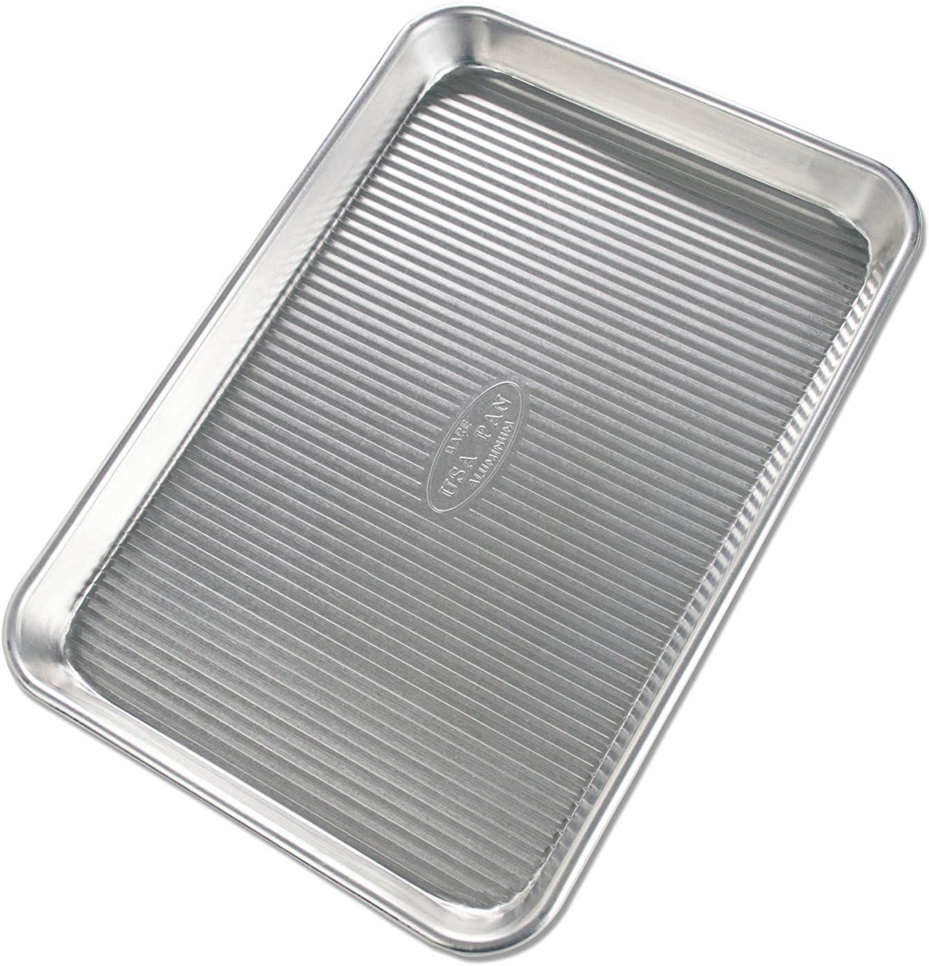 USA Pan Bare Aluminum Quarter Sheet Pan