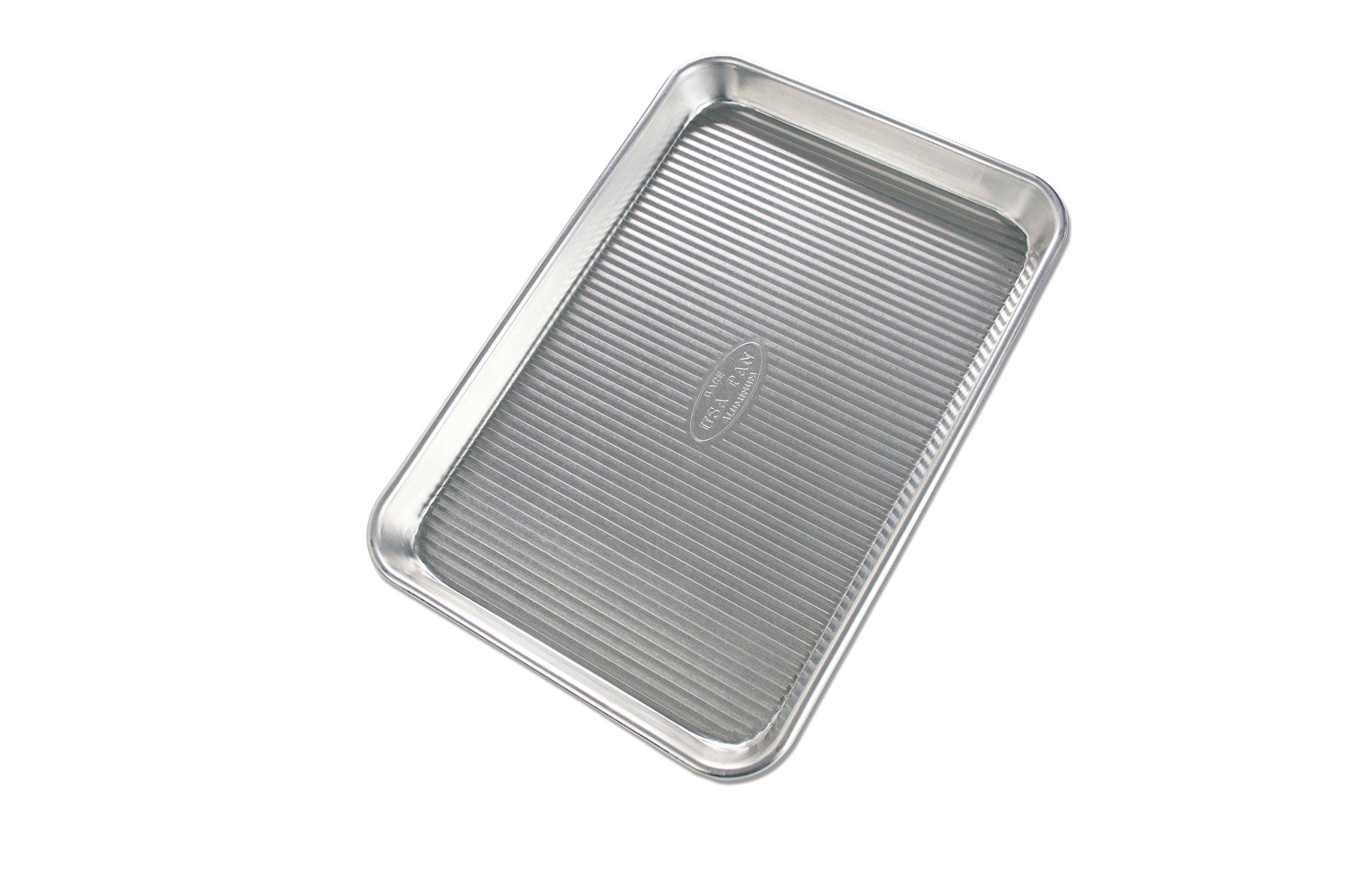 USA Pan Bare Aluminum Fluted Half Sheet Pan