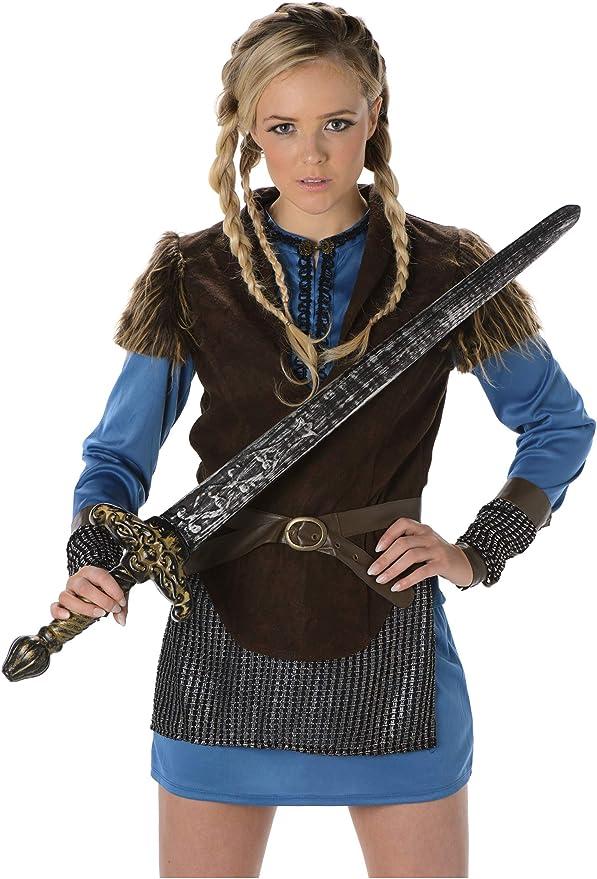 Folat B.V. Disfraz de vikinga para Mujer 81071 de Karnival Costumes, Talla L: Amazon.es: Juguetes y juegos