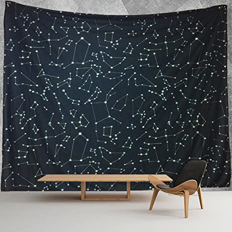 Amazoncom HWMR Constellations Map Wall Decor Universe Galaxy - Constellation wall map