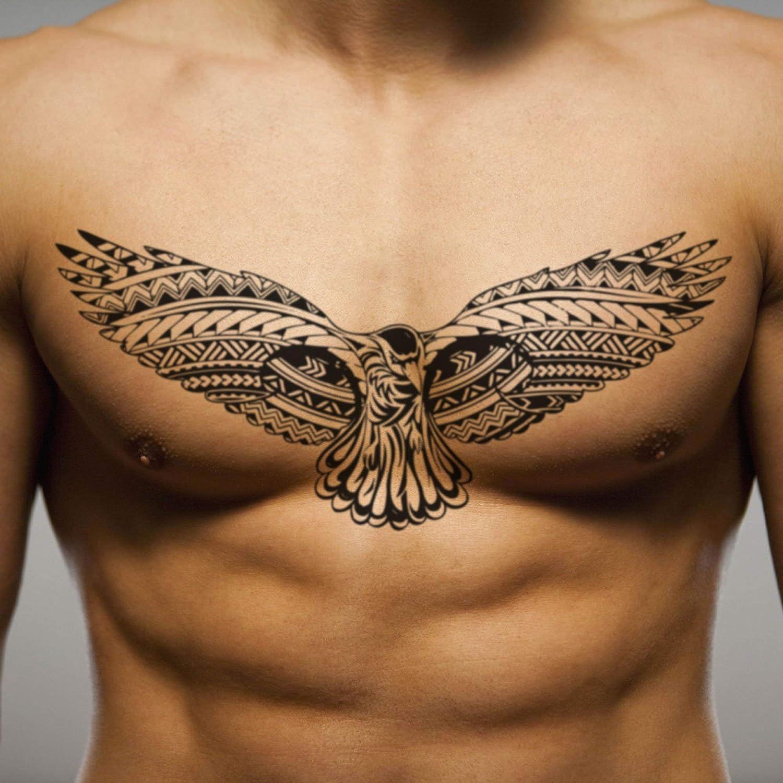 Amazon.com Bird Wing Chest For Men Temporary Tattoo Sticker