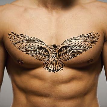 Amazon Com Bird Wing Chest For Men Temporary Tattoo Sticker Set Of 2 Www Ohmytat Com Beauty
