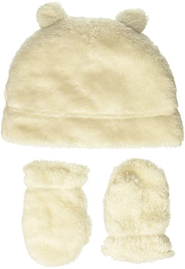 20280ae9b4f Amazon.com  Hudson Baby Cozy Sherpa Hat   Mitten Set  Clothing
